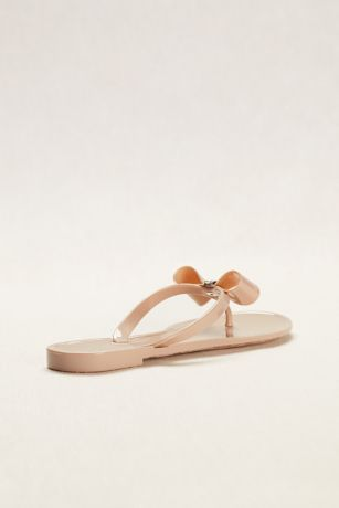 3ae91128b Blossom Beige (Jelly Flip Flop with Bow and Crystal Ornament). Save