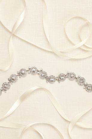 Pave Circle Bridesmaid Sash David S Bridal