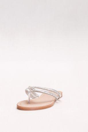 7e0ec89e0842 Embellished Double-Strap Flip Flops