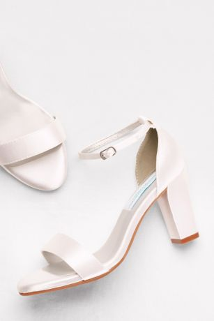 668af6087560 Dyeables White (Dyeable Ankle-Strap Block Heel Sandals). Save