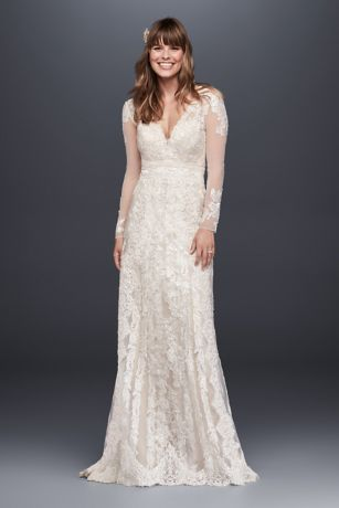 As Is Linear Lace Wedding Dress David S Bridal