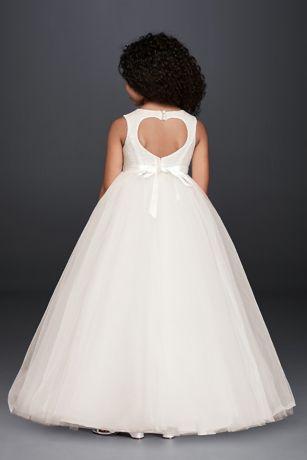 d516c82ce9 Long Ballgown Tank Communion Dress - David s Bridal. Save