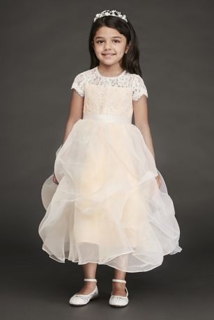 6203d9aea6c Lace and Organza Pick-Up Flower Girl Dress. RK1380. Long Sheath Long  Sleeves Dress - David s Bridal. Long Sheath Long Sleeves Dress - David s  Bridal. Save