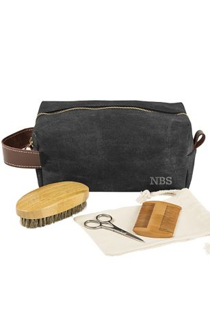 1e21f4541332 Personalized Dopp Kit with Beard Grooming Set