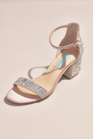 975bedd5274 Blue By Betsey Johnson Beige (Block Heel Sandals with Allover Gem  Embellishment). Save
