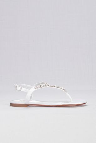 9ae6f06d0 Dyeables White (Pearl and Crystal Encrusted Dyeable T-Strap Sandal). Save