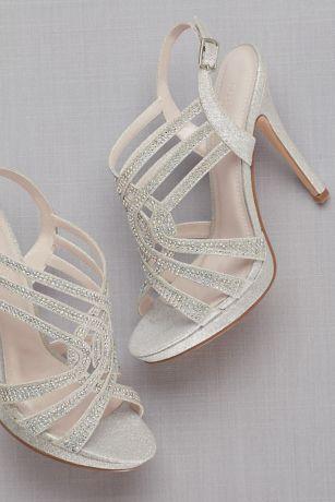 abe818659d4 Strappy Crystal Platform Sandals. VIVA2. Grey David s Bridal Bridesmaid  Dress. Grey David s Bridal Bridesmaid Dress. Save