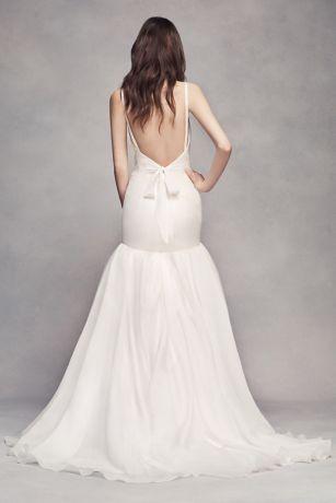 White by Vera Wang Organza Mermaid Wedding Dress | David\'s Bridal