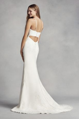 e13786051d White by Vera Wang Halter Sheath Wedding Dress