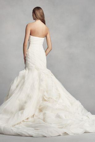 e333fc3f06f7 White by Vera Wang Organza Petite Wedding Dress   David's Bridal