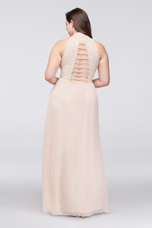 809d941c62f2d Chiffon Plus Size Gown with Open Ladder Back. W35241H232. Long A-Line  Halter Cocktail and Party Dress -. Long A-Line Halter Cocktail and Party  Dress -. Save