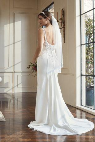 2f1c7d583fb Long Mermaid  Trumpet Formal Wedding Dress - David s Bridal Collection. Save