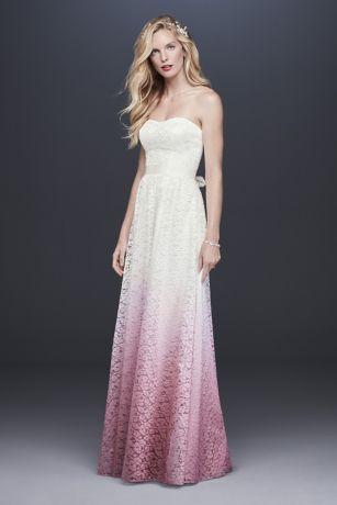 Populair A-line Ombre Lace Wedding Dress | David's Bridal @QW87
