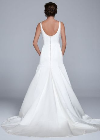 Trumpet Gown with Button Back Detail   David\'s Bridal