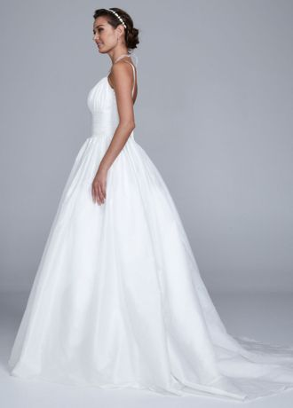 28ee05e833 Taffeta Tank Wedding Dress with Empire Waist
