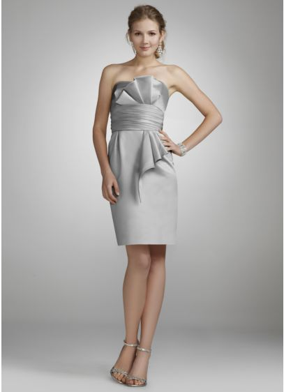 Short Sheath Strapless Dress -