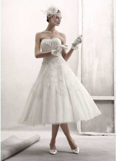 Short Ballgown Country Wedding Dress -