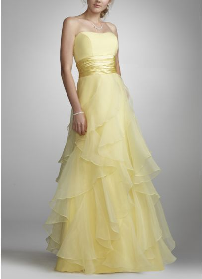 Long Ballgown Strapless Dress - David's Bridal