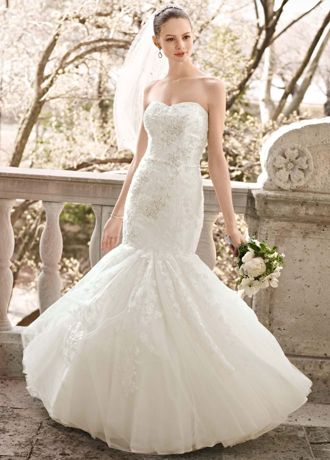 Beaded Fitted Wedding Dress