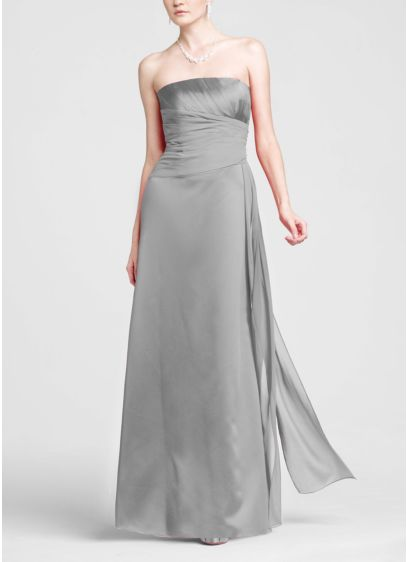 Long A-Line Strapless Dress -