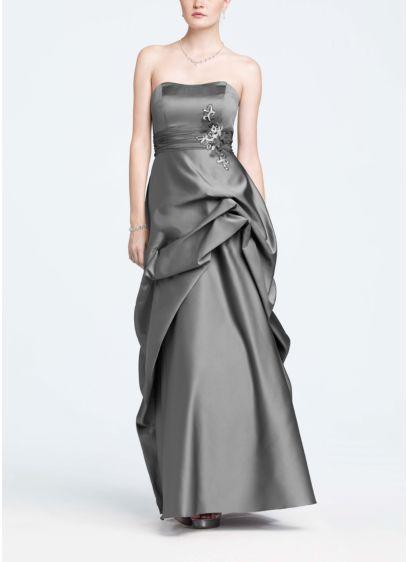 Long Black Structured David's Bridal Bridesmaid Dress