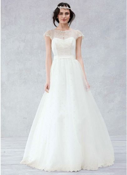 Long A-Line Romantic Wedding Dress - Galina