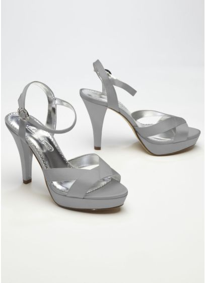 Ivory (Charmeuse High Heel with Crystal Buckle)