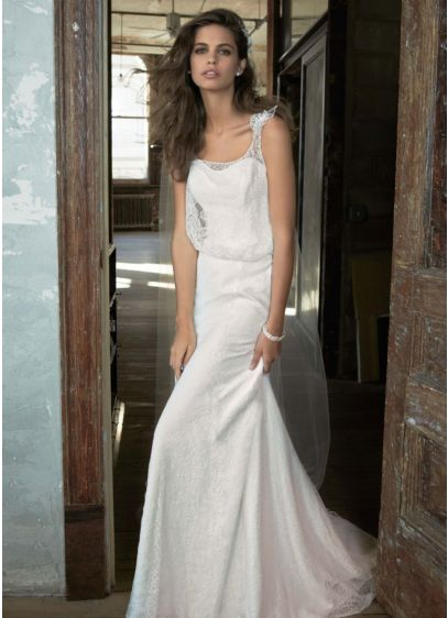 Lace Blouson Wedding Gown With Fl Detail Kp3515 Save