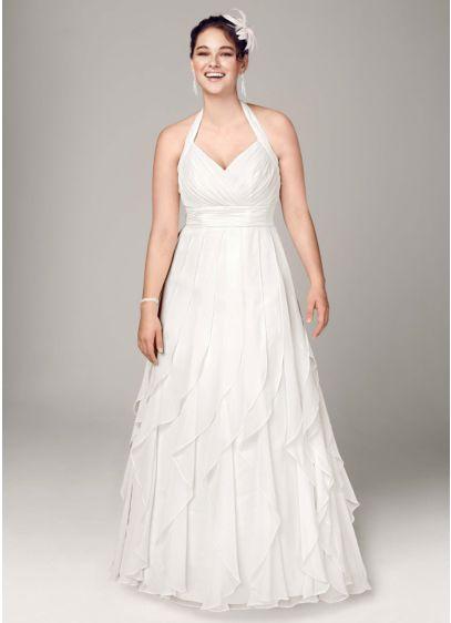 Long A-Line Halter Dress -
