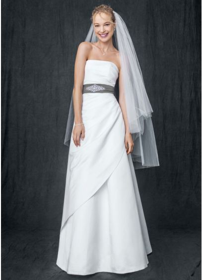 Long White Structured Bridesmaid Dress
