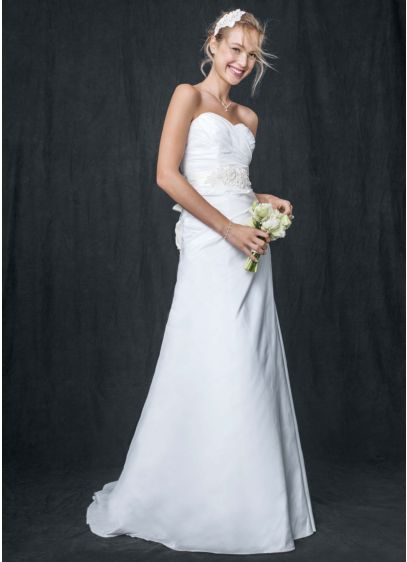Long A-Line Casual Wedding Dress -