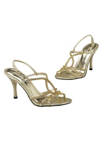 Grey (Strappy Rhinestone Encrusted High Heel Sandal)
