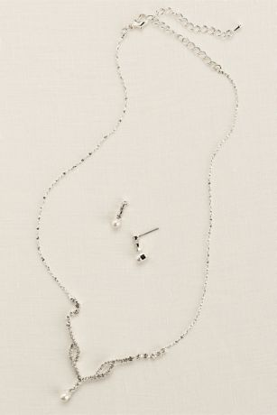 Crystal Single Pearl Drop Set