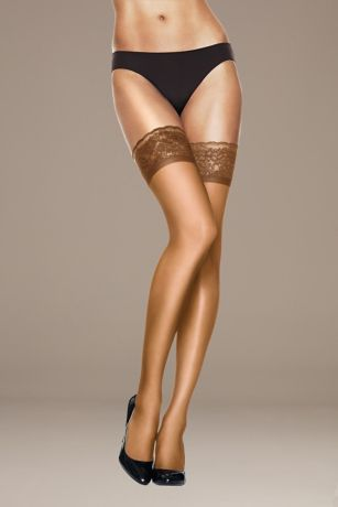 Hanes Silk Reflections Lace Top Thigh High Hose
