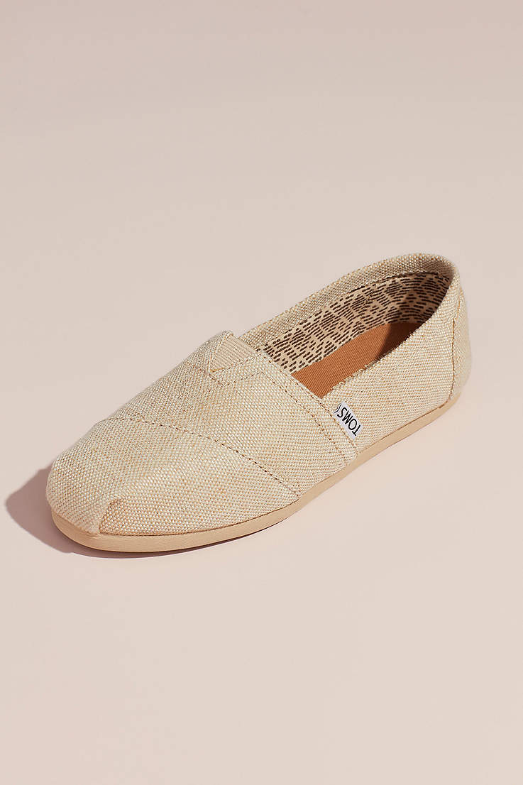 59cf6f2ed20 TOMS Beige Sneakers and Casual (TOMS Metallic Burlap Slip-On Shoes)