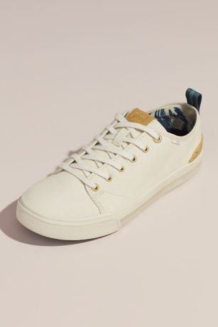 TOMS Ivory Sneakers and Casual (TOMS Canvas Sneakers with Striped Pull-Tab)