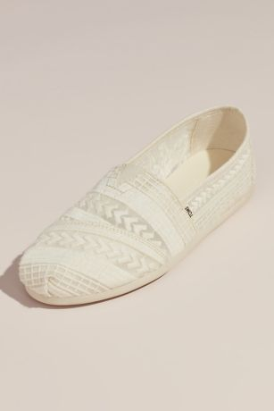 TOMS Ivory Sneakers and Casual (TOMS Embroidered Arrow Alpargata Slip-On Shoes)