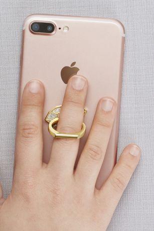 Diamond-Shaped Enamel Phone Ring