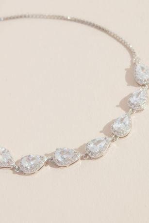 Teardrop Crystal Chain Bracelet