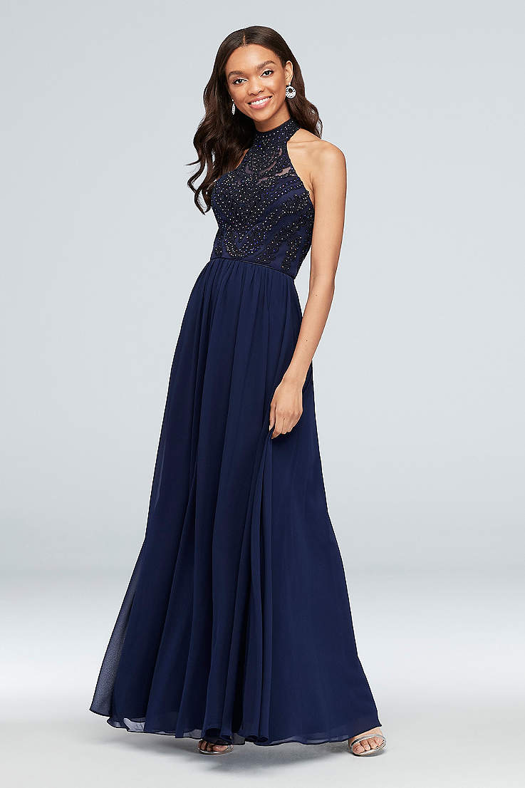 eadf72de5e3bc High Neckline Prom Dresses and Formal Dresses | David's Bridal