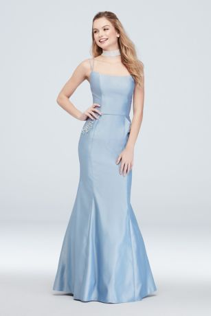 Long Mermaid/ Trumpet Spaghetti Strap Dress - Blondie Nites