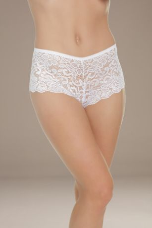 Coquette Low-Rise Lace Booty Short
