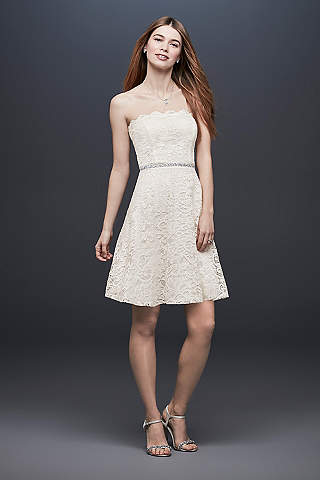 Short A Line Casual Wedding Dress   DB Studio