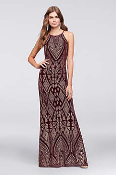 Long Sheath Halter Formal Dresses Dress - Marina