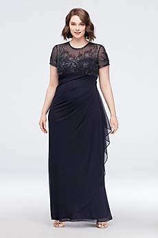 Long Sheath Short Sleeves Formal Dresses Dress - Xscape