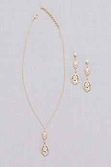 Vintage-Inspired Crystal Cluster Necklace