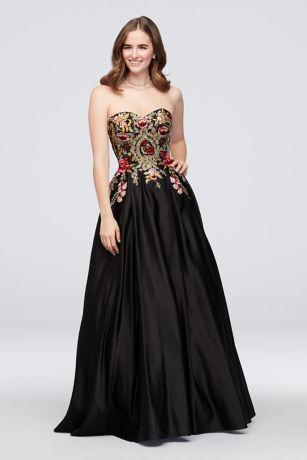 Long Ballgown Strapless Dress - Blondie Nites