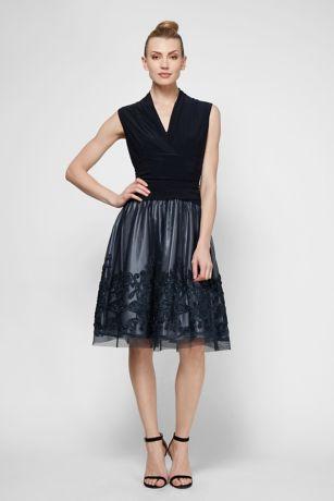 Short A-Line Cap Sleeves Dress - SL Fashions