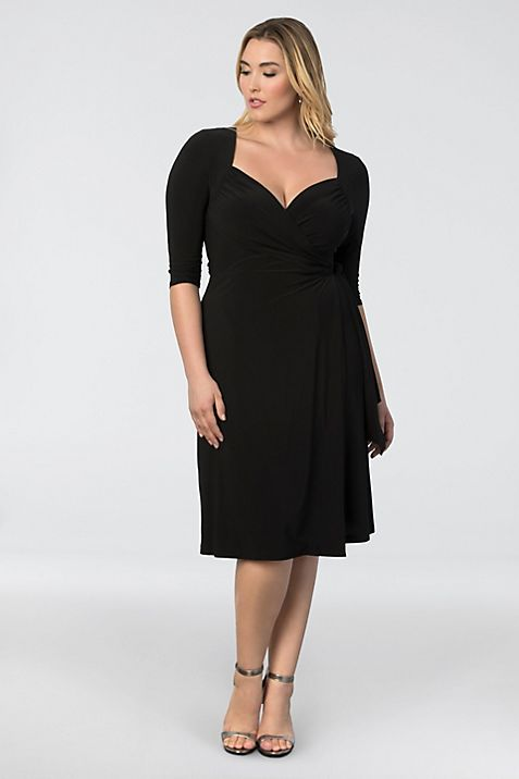 Sweetheart Knit Plus Size Wrap Dress Davids Bridal