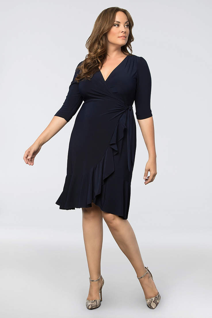 be36877bdbc9 Short A-Line 3 4 Sleeves Cocktail and Party Dress - Kiyonna